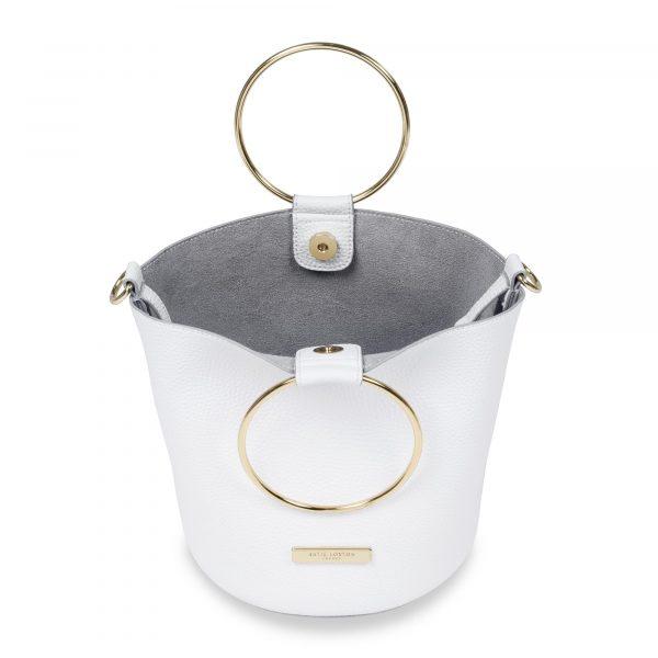 Katie Loxton Suki Bucket Bag in White