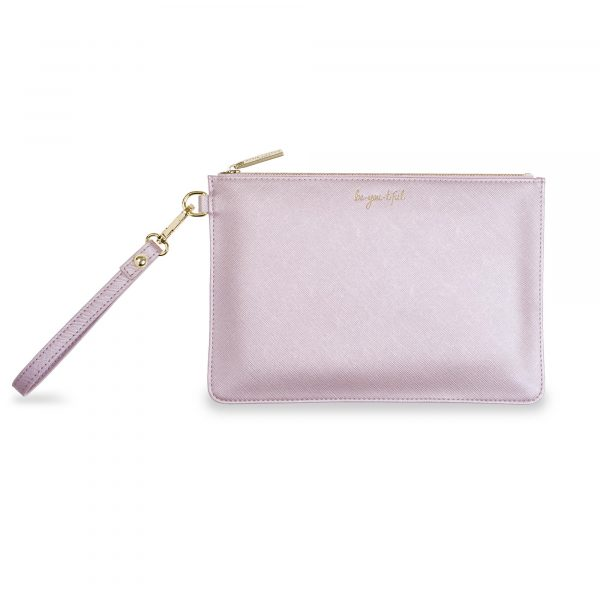 Katie Loxton Secret Message Pouch Be-You-Tiful Metallic Lilac