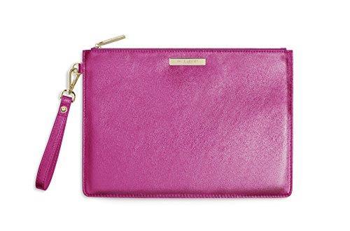 Katie Loxton - Luxe Clutch - Metallic Pink - 20x29cm