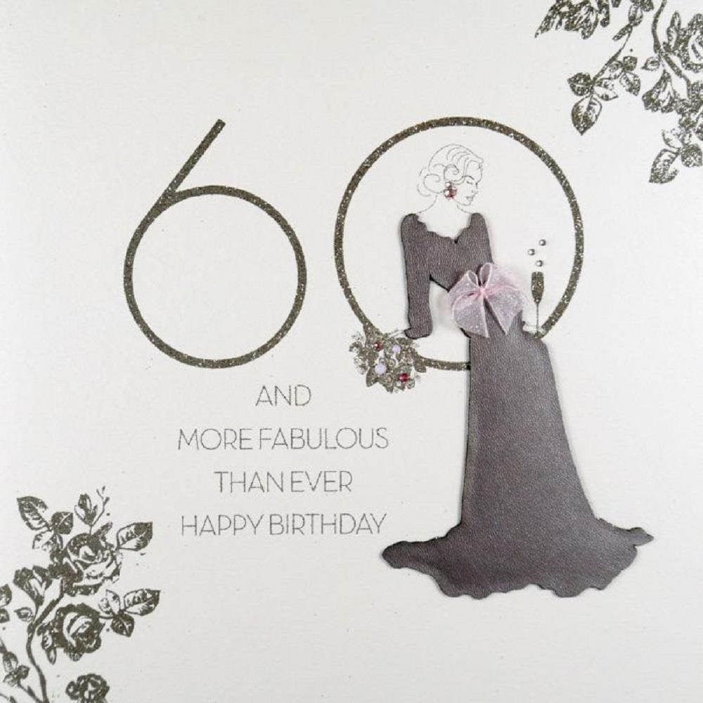 60 More Fabulous Than Ever Large Handmade 60th Birthday Card RAD6