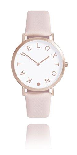 Katie Loxton - Lara Watch - Rose Gold Plated - Blush Pink Leather Strap