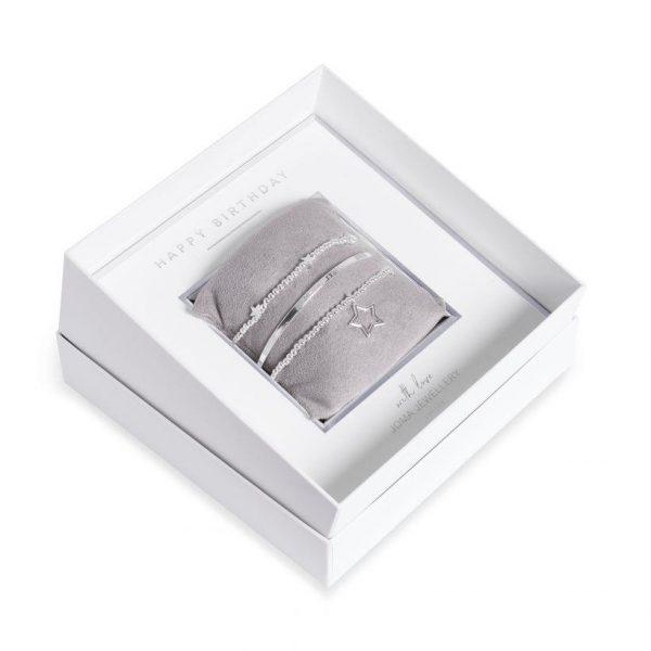 Joma Jewellery Happy Birthday Bracelet Gift Box