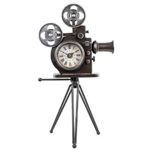 Past Times Retro Movie Camera Clock