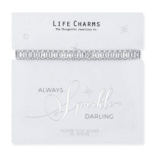 Life Charms Large Rectangle Cubic Zirconia Bracelet