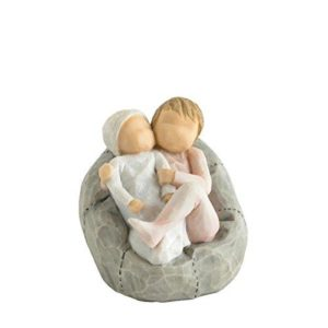 Willow Tree My New Baby Blush Figurine, Resin, Cream, 75 x 65 x 70 cm