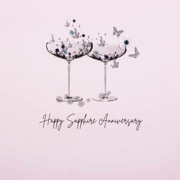 Five Dollar Shake Sapphire (45 Years) Anniversary Card