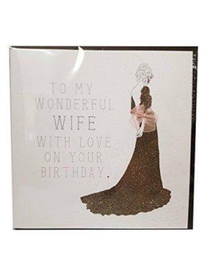 To My Wonderful Wife - Quality Handmade Birthday Card - RB29