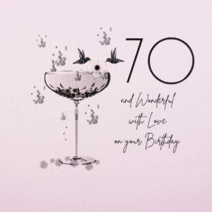 Five Dollar Shake 70th Birthday Card