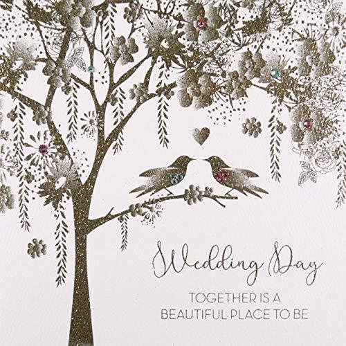 Wedding Day, Together is a Beautiful Place to be #GS29 - Handmade Greeting Card by Five Dollar Shake