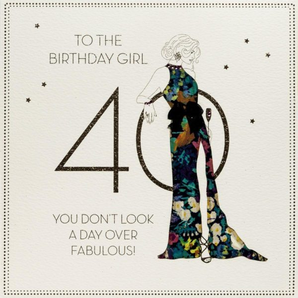 Day Over Fabulous ! - Large Handmade 40th Birthday Card - BLY6