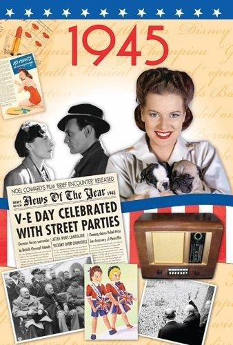 1945 Birthday Gift -1945 DVD Gift and Card