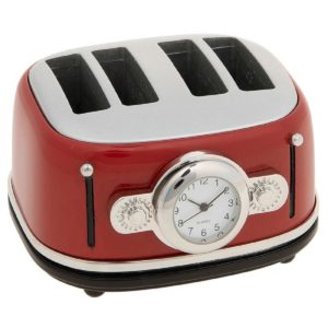 Joe Davies Miniature Clock Techno Toaster Red