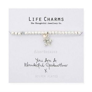 Life Charms You Are A Wonderful Godmother Bracelet