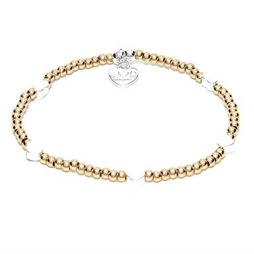 Life Charms St Tropez Rose Gold Heart Bracelet