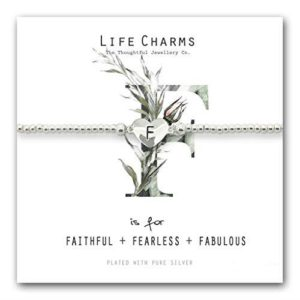 Life Charms F is for Bracelet