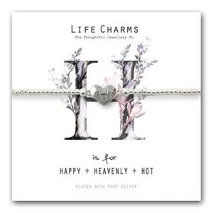 Life Charms H is for Bracelet