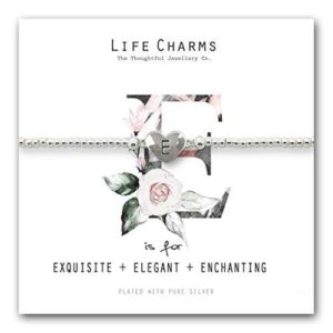 Life Charms E is for Bracelet