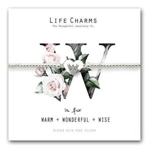 Life Charms W is for Bracelet