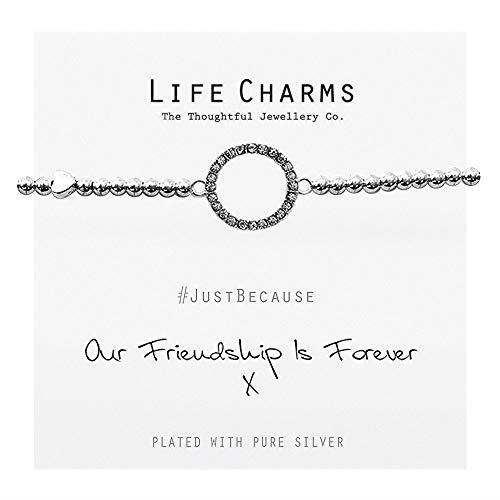 Life Charms Women Jewellery Forever Friendship Bracelet Wristband Ladies Gift