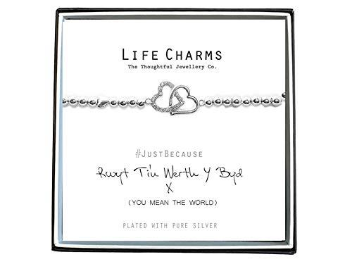 Life Charms Women Jewellery You Mean The World Welsh Bracelet Wristband Gift