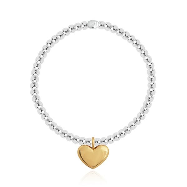 Joma Jewellery Sweet Sentiments Heart Of Gold Bracelet