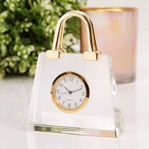 WIDDOPS Miniature Glass Handbag Clock