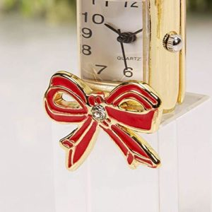 WIDDOPS Miniature Glass Lipstick Clock
