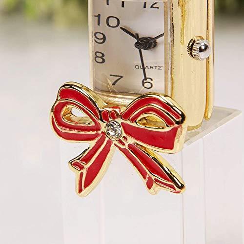 WIDDOPS Miniature Glass Lipstick Clock