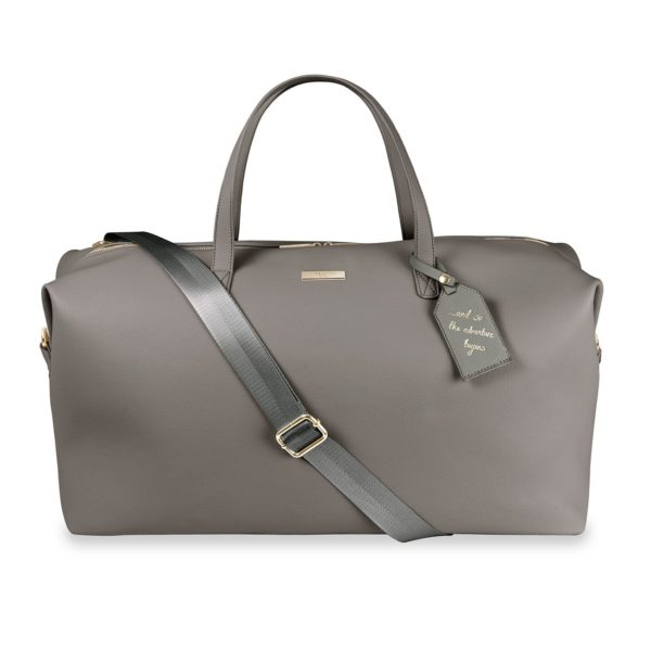 Katie Loxton Weekend Holdall Duffle Bag in Charcoal