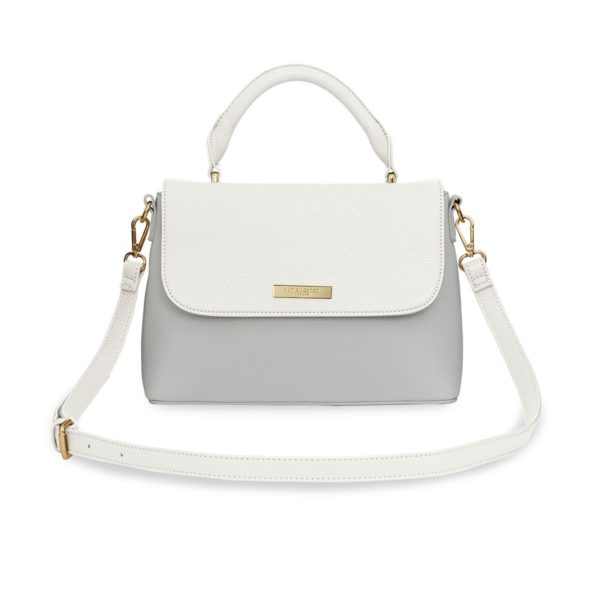 Katie Loxton Talia Two Tone Messenger Bag White/Pale Grey