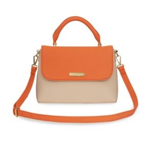 Katie Loxton Talia Two Tone Messenger Bag Orange/Tan