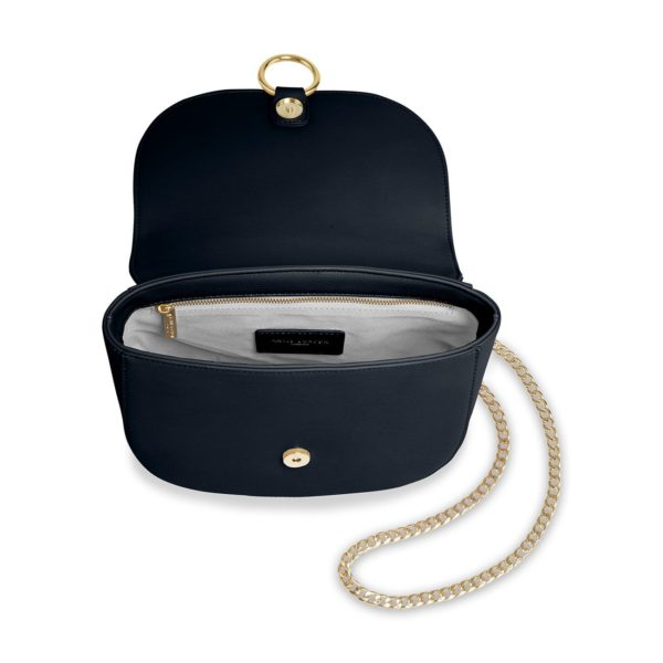 Katie Loxton Lucia Saddle Bag in Navy
