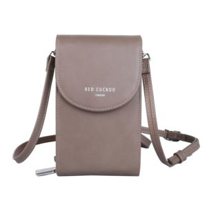 Red Cuckoo Cross Body Pouch in Taupe