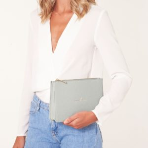 Katie Loxton Pouch Live To Dream in Pale Grey
