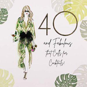 Five Dollar Shake Handmade Card, 40 and Fabulous, That Calls for Cocktails, Dream Garden Range #BG23