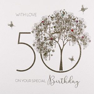 With Love on your Special birthday 50, Handmade Greeting Card by Five Dollar Shake GS20