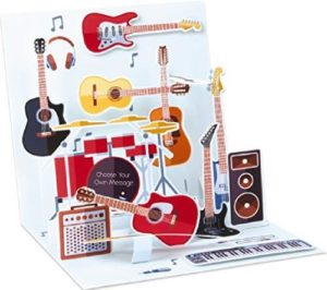 Noel Tatt Guitars & Music Pop-up Greetings Card