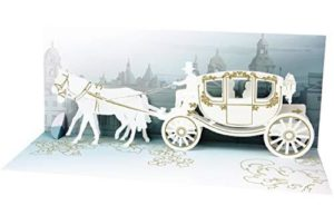 Noel Tatt Wedding Carriage Pop-up Greetings Card