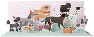 Noel Tatt Dogs Panoramic Pop-up Greetings Card