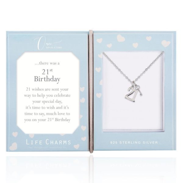 Life Charms Once Upon A Time 21st Birthday Sterling Silver necklace