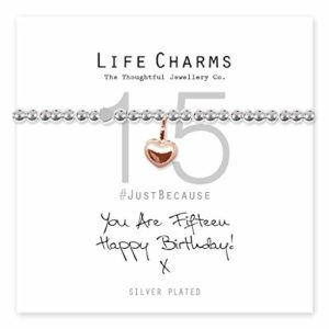 Life Charms Happy 15th Birthday bracelet