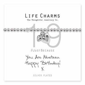 Life Charms Happy 19th Birthday bracelet
