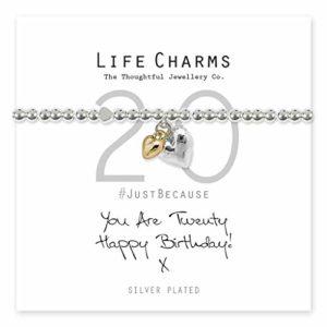 Life Charms Happy 20th Birthday bracelet