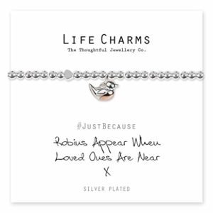 Life Charms Robins Appear When Loved Ones Are Near bracelet