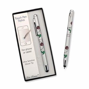 Large Ballpoint and Touch Pen Stylus, Mackintosh Flower