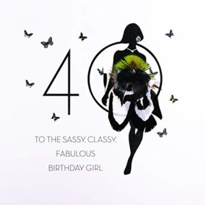 to The Sassy Classy Fabulous Birthday Girl - Quality Handmade 40th Birthday Card / FOF16