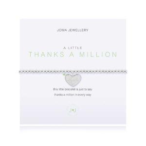 Joma Jewellery Irish Thanks A Million bracelet