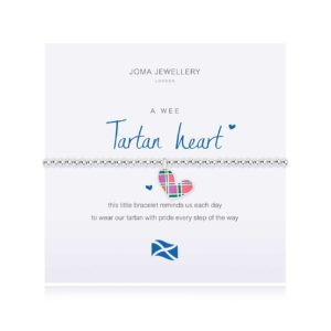Joma Jewellery a little Scottish Tartan heart bracelet