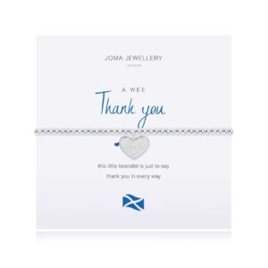Joma Jewellery a little Scottish Thank You bracelet