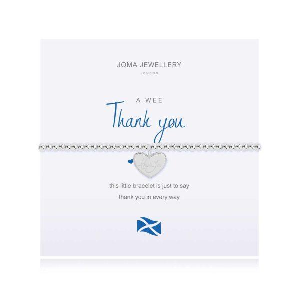 Joma Jewellery a little Scottish Thank You bracelet